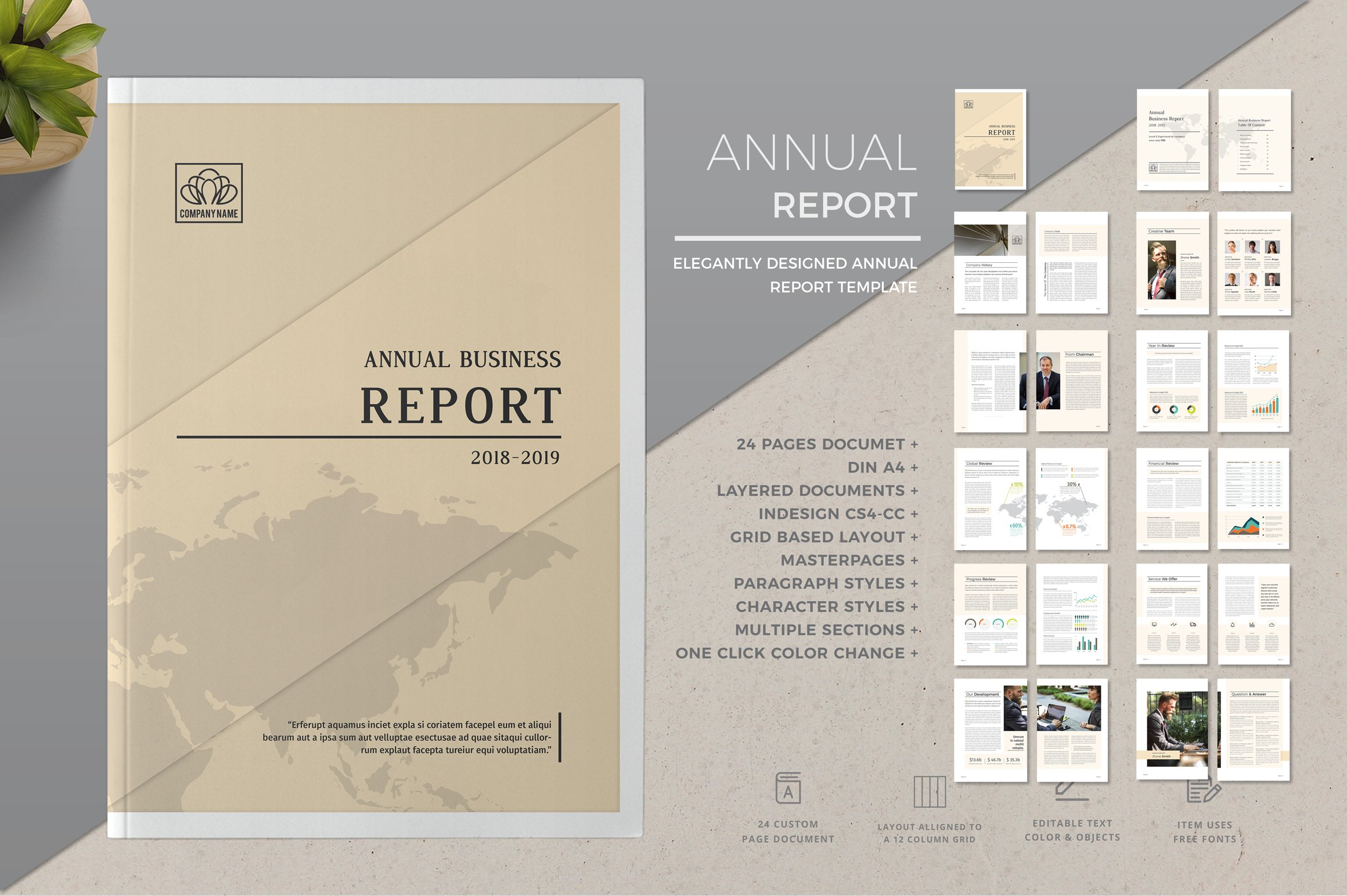 Indesign layout annual report Photos, Graphics, Fonts, Themes ...