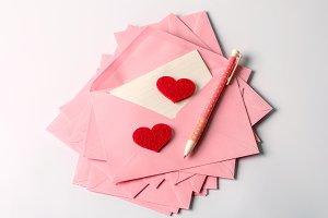 Romance love letter