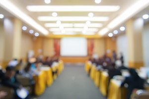 Blur of business Conference meeting