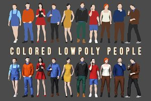Varicolored Lowpoly People Volume 1