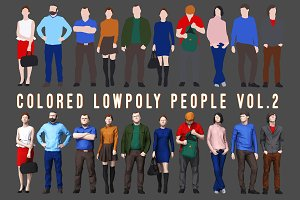 Varicolored Lowpoly People Volume 2
