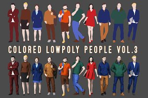 Varicolored Lowpoly People Volume 3