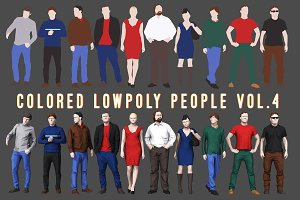 Varicolored Lowpoly People Volume 4