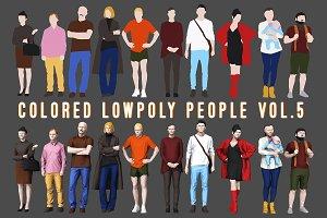 Varicolored Lowpoly People Volume 5