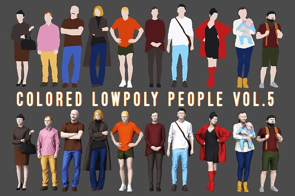 Person: kanistra studio - Varicolored Lowpoly People Volume 5