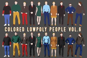 Varicolored Lowpoly People Volume 6
