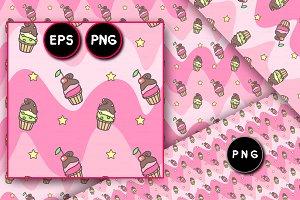 ♥ vector cute seamless pattern