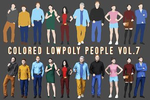 Varicolored Lowpoly People Volume 7