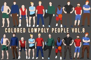 Varicolored Lowpoly People Volume 8