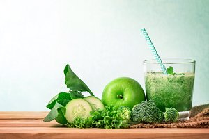 Healthy green smoothie juice