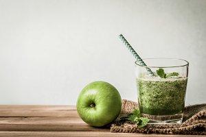Healthy fresh green smoothie