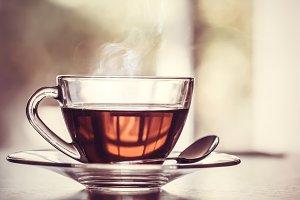 Warm tea cup