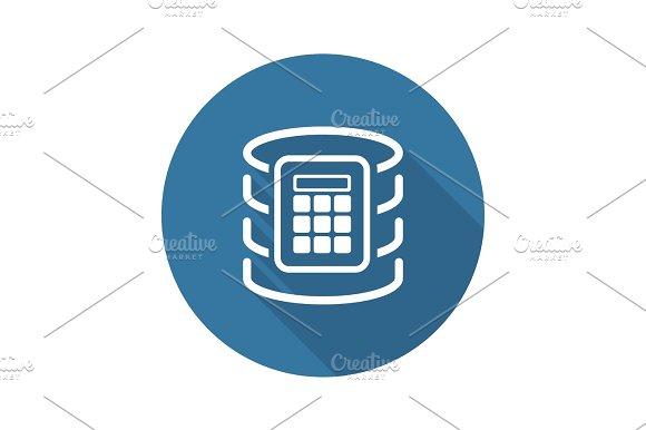 Secure Database Icon Flat Design