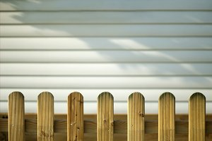 Wooden decorative fence and  wall
