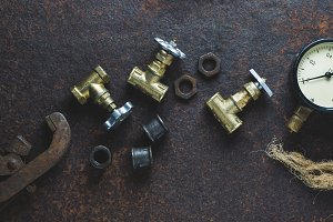 Old wrenches and water gates