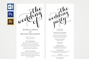 Wedding Program WPC183