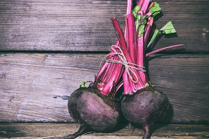 Two raw beets