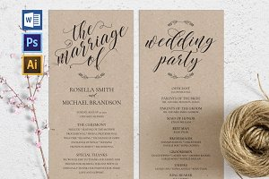 Wedding Program WPC184
