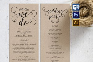 Wedding Program WPC185