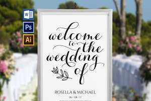 wedding welcome sign SHR186