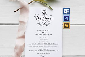 Wedding Program WPC187