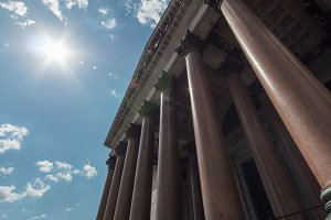 St. Isaac's Cathedral -1818 year of foundation - view of colonnade, Saint Petersburg