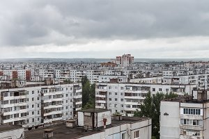Multi-storey Residential building in Russian poor living districts