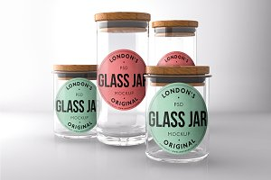 Glass Mason Jar Mock-ups