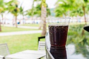 Cola or Cuba Libre cocktail
