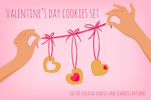 Vector Valentine's day set
