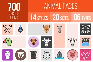 700 Animal Faces Icons