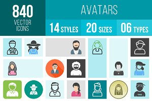 840 Avatars Icons