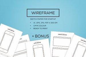 Wireframe  for New Startup + Bonus