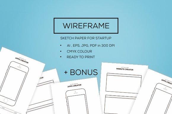 Wireframe For New Startup Bonus