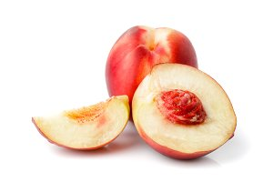 nectarine isolated