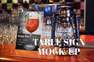 Table Tent Tabletop Display Mockup