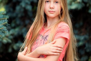 long-hair blonde girl
