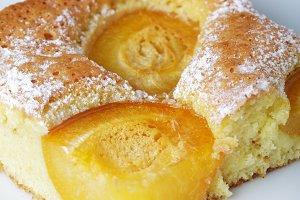 Apricot sponge slice