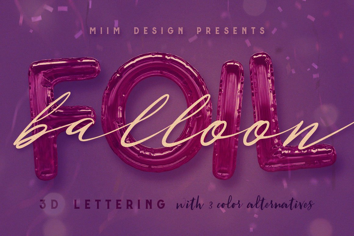 Foil balloon letters Photos, Graphics, Fonts, Themes