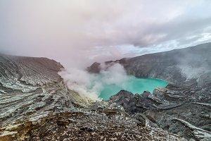 Kawah Ijen Volcano is stratovolcano