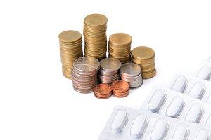 Saving money concept, coin stack