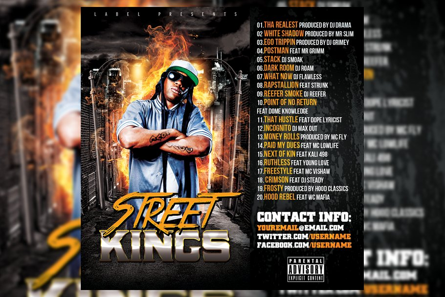 Mixtape CD Cover Template in Templates