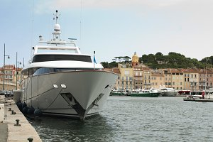 Anchored Yacht in St. Tropez