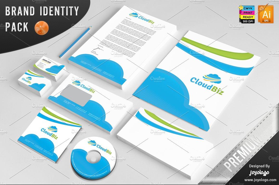 Biz cloud service corporate identity stationery templates biz cloud service corporate identity stationery templates creative market fandeluxe Gallery