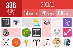 336 Zodiac Icons