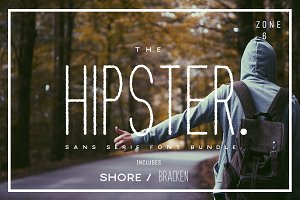 The Hipster Sans Serif Font Bundle