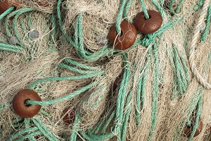 Fishing nets background