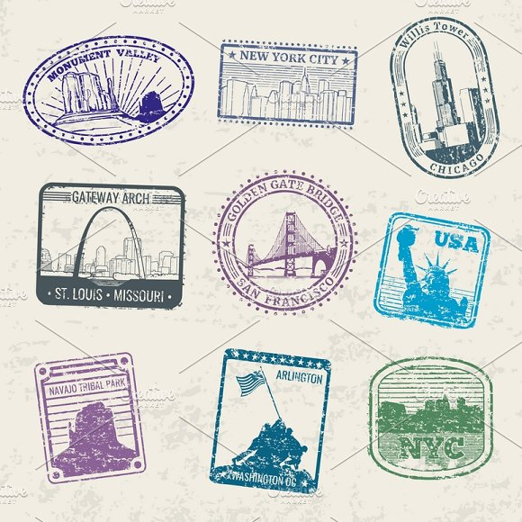 Mail Travel Stamps