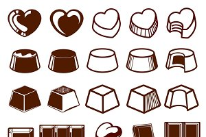 Set of chocolate icons