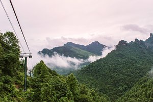 cable car in tianmen mountain china